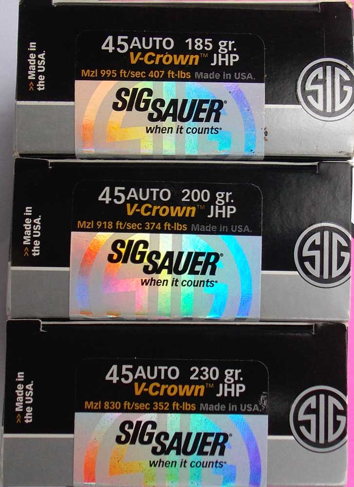 3 boxes of SIG V-Crown ammunition