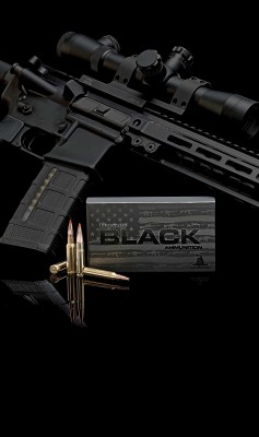 Hornady Black Ammunition with AR-15 rifle