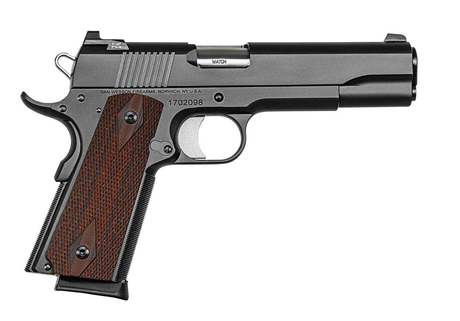 Dan Wesson Valor Blue 1911 pistol right profile