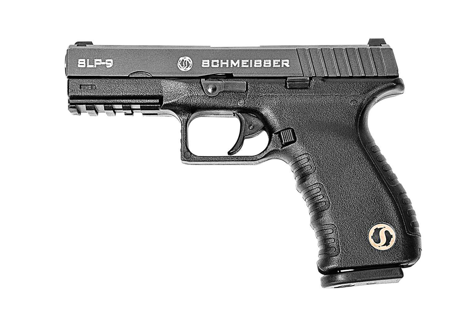 Schmeisser SLP-9 9mm pistol black left profile