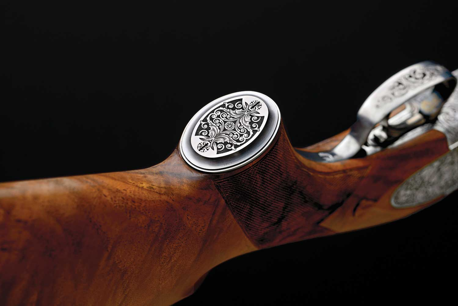 Browning B15 over/under shotgun engraving
