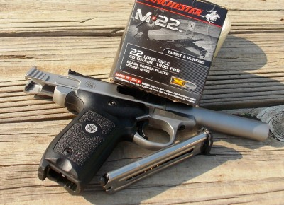 Smith and Wesson SW22 Victory with Winchester M22 ammunition