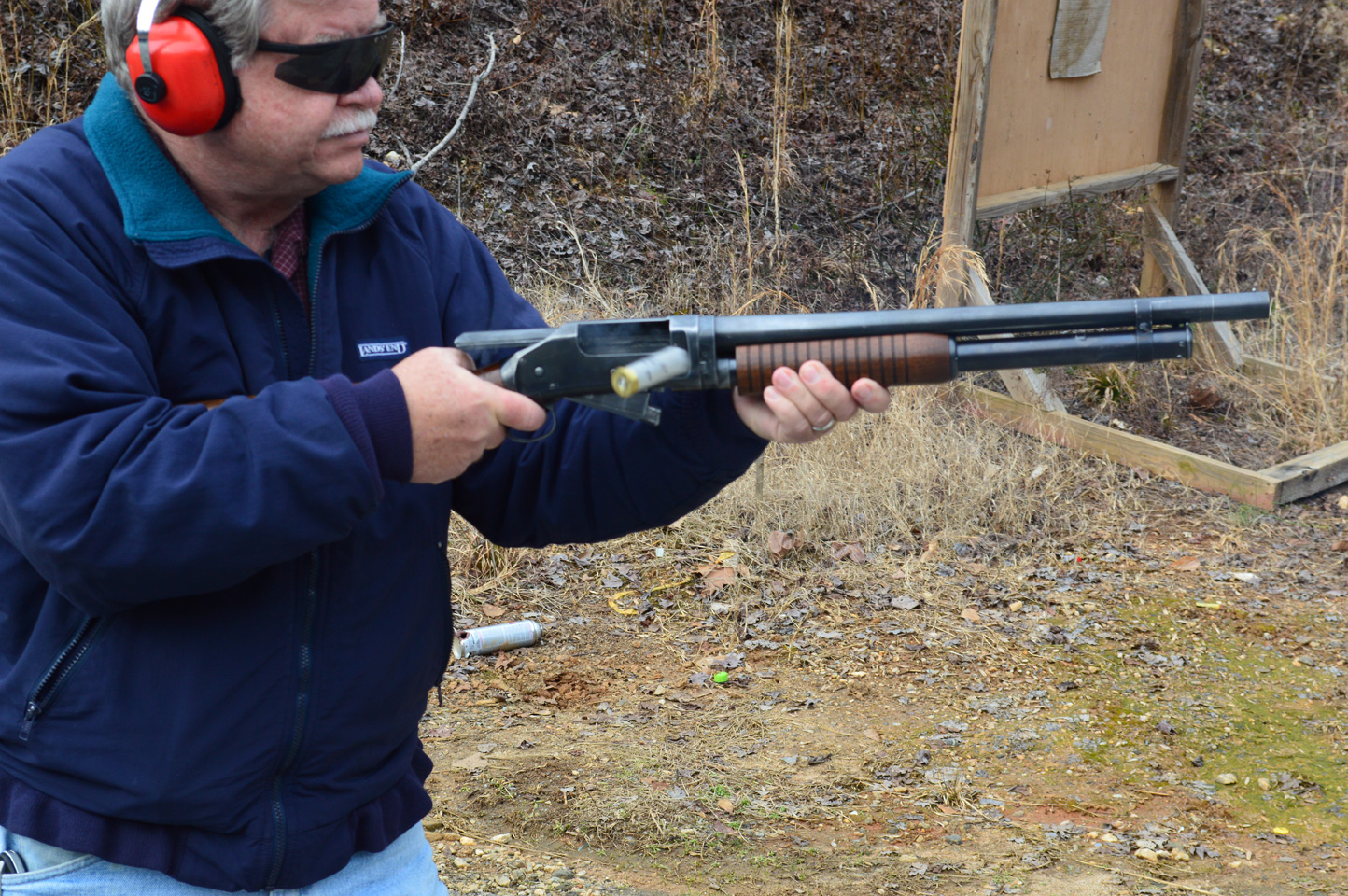 Bob Campbell rapidly firing the Norinco Wild Bunch shotgun