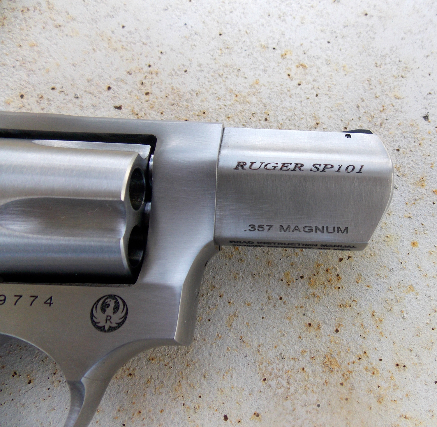 Ruger SP101 in .357 Magnum barrel detail