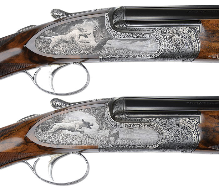Pair Of Ivo Fabbri 20 Ga Over-Under Game Shotguns