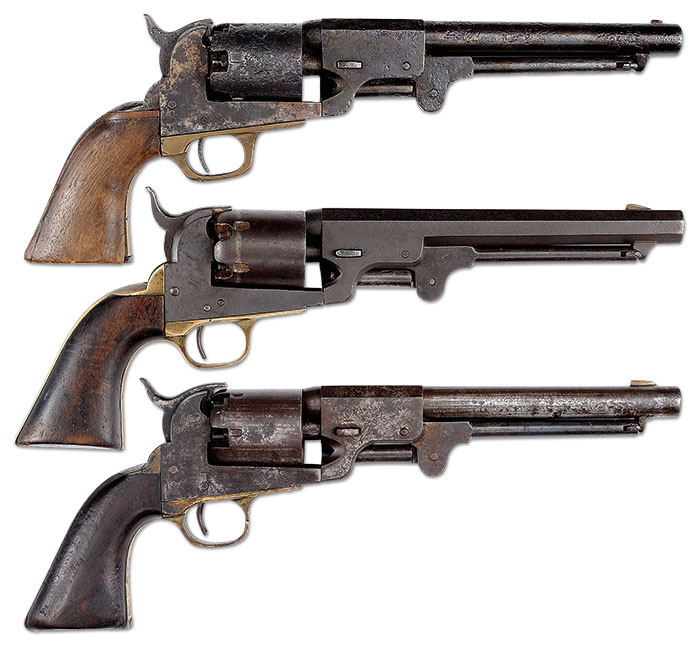 3 Confederate Revolvers