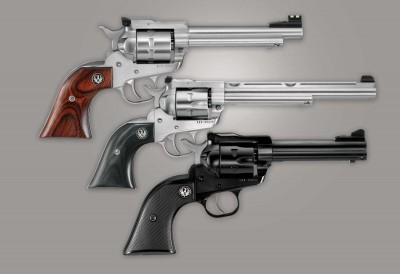 Three Ruger Single Six revolvers