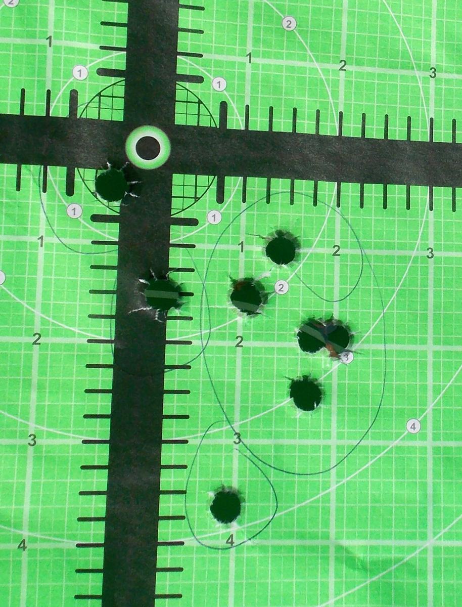 Green paper shooting target