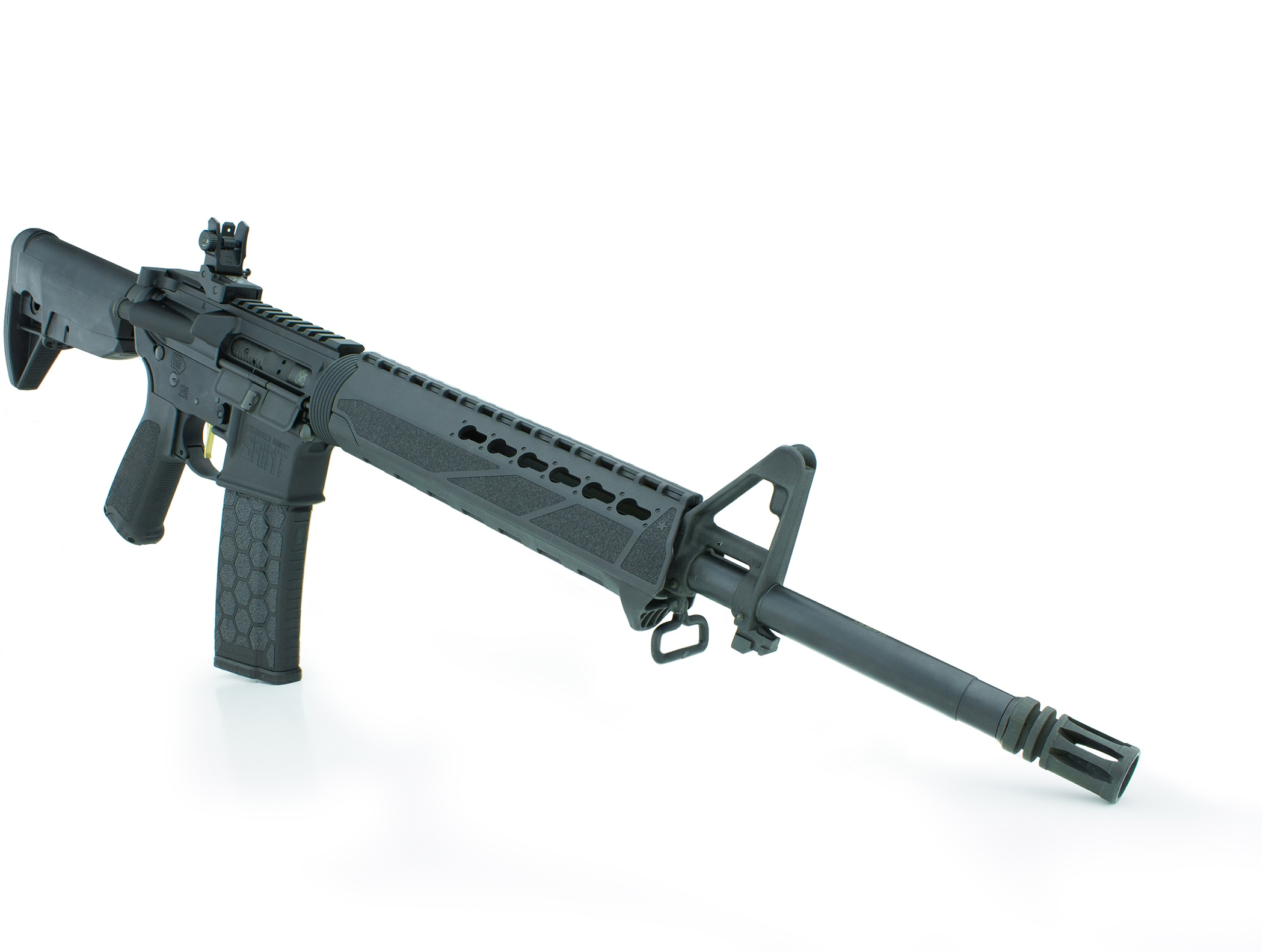 Springfield Saint AR-15 angle quartering to