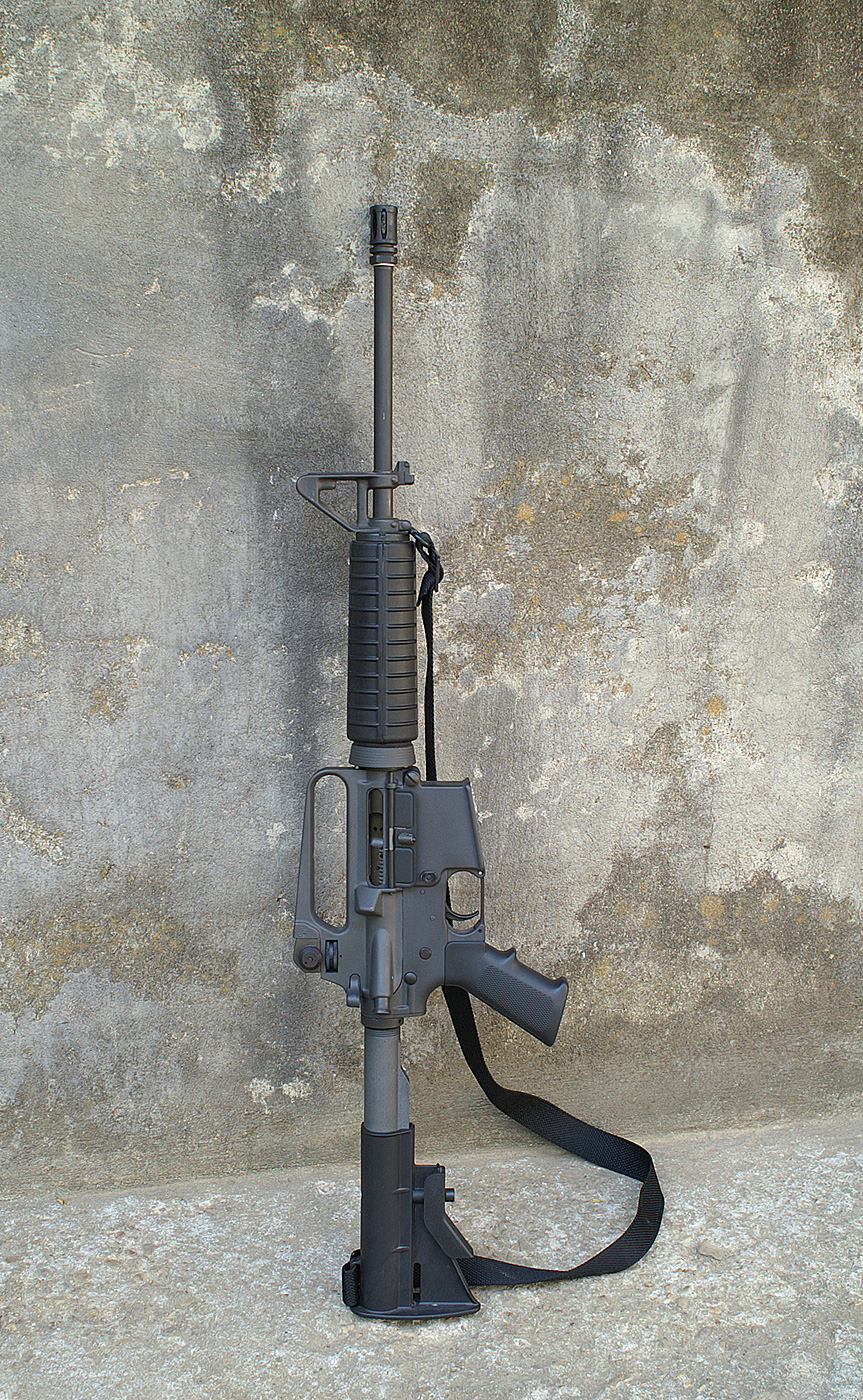 Older Colt AR-15 rifle