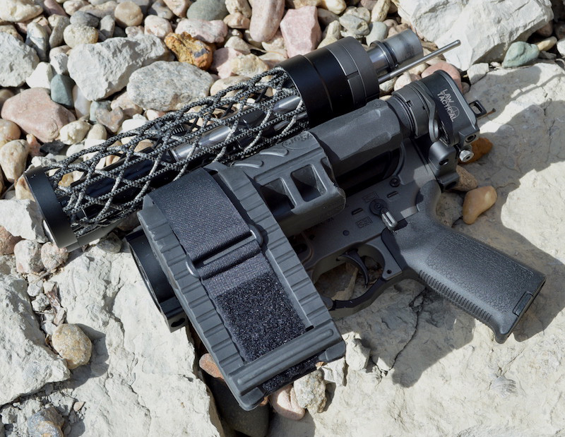 Dolos and Law Tactical equipped AR-15 pistol