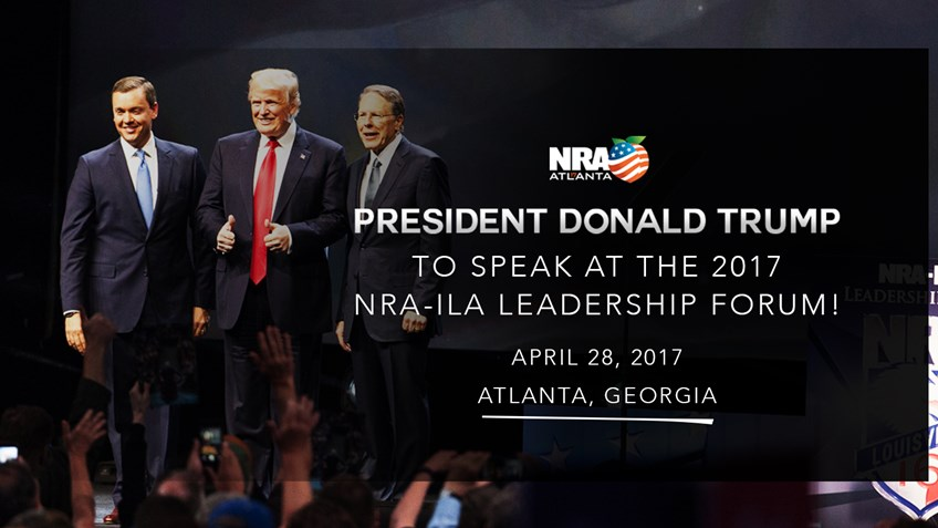 Candidate Donald Trump at 2016 NRA-ILA Leadership forum