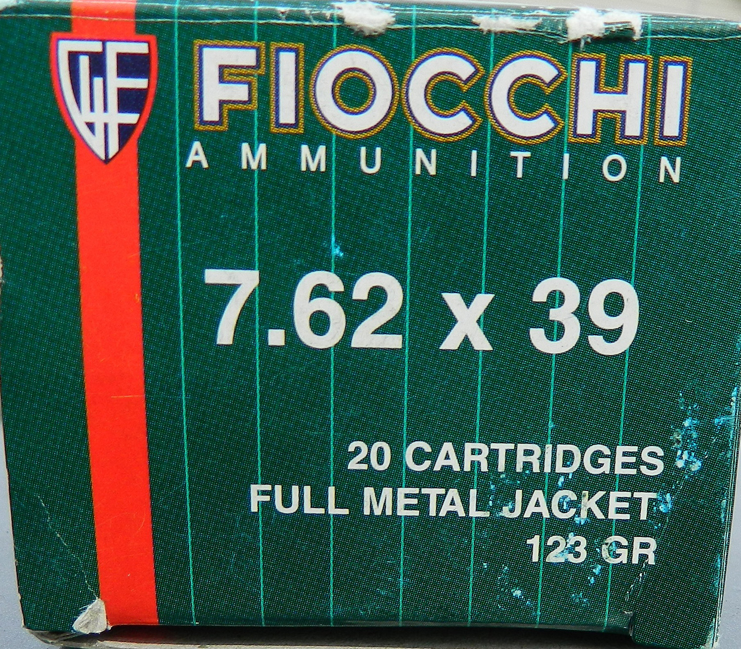 Box of Fiocchi 7.62x39 ammunition