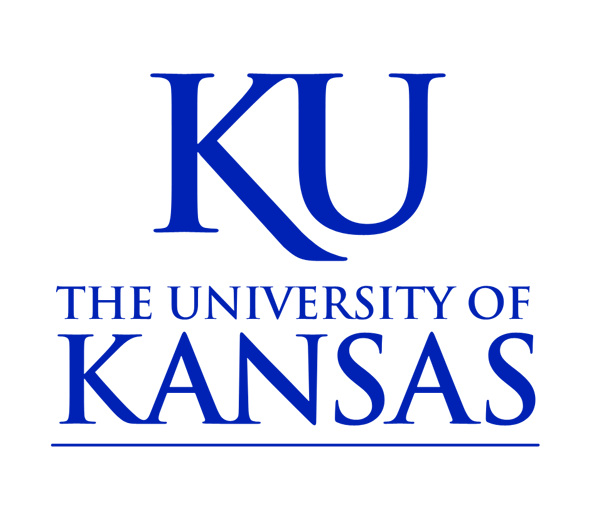 Kansas University blue and white logo