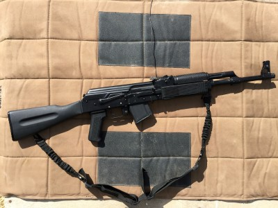 right profile of a FM-AK47 rifle
