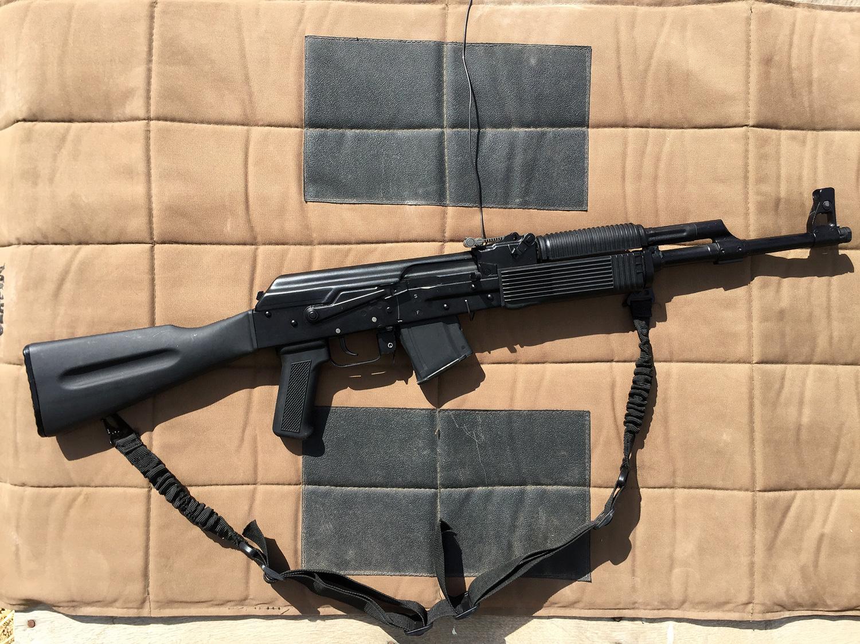 right profile of a FM-AK47 rifle