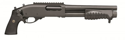 Door breaching Remington 870 shotgun