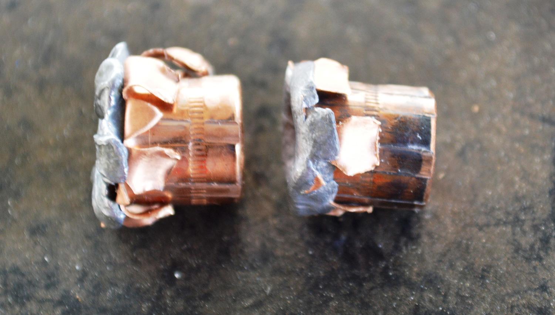2 upset V-Crown bullets