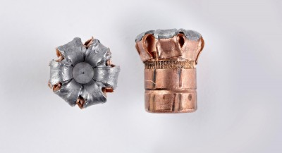 Two upset Hornady bullets