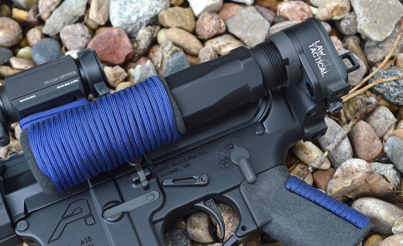 Law Tactical AR-15 Folding Stock Adapter with AR-15 stock folded