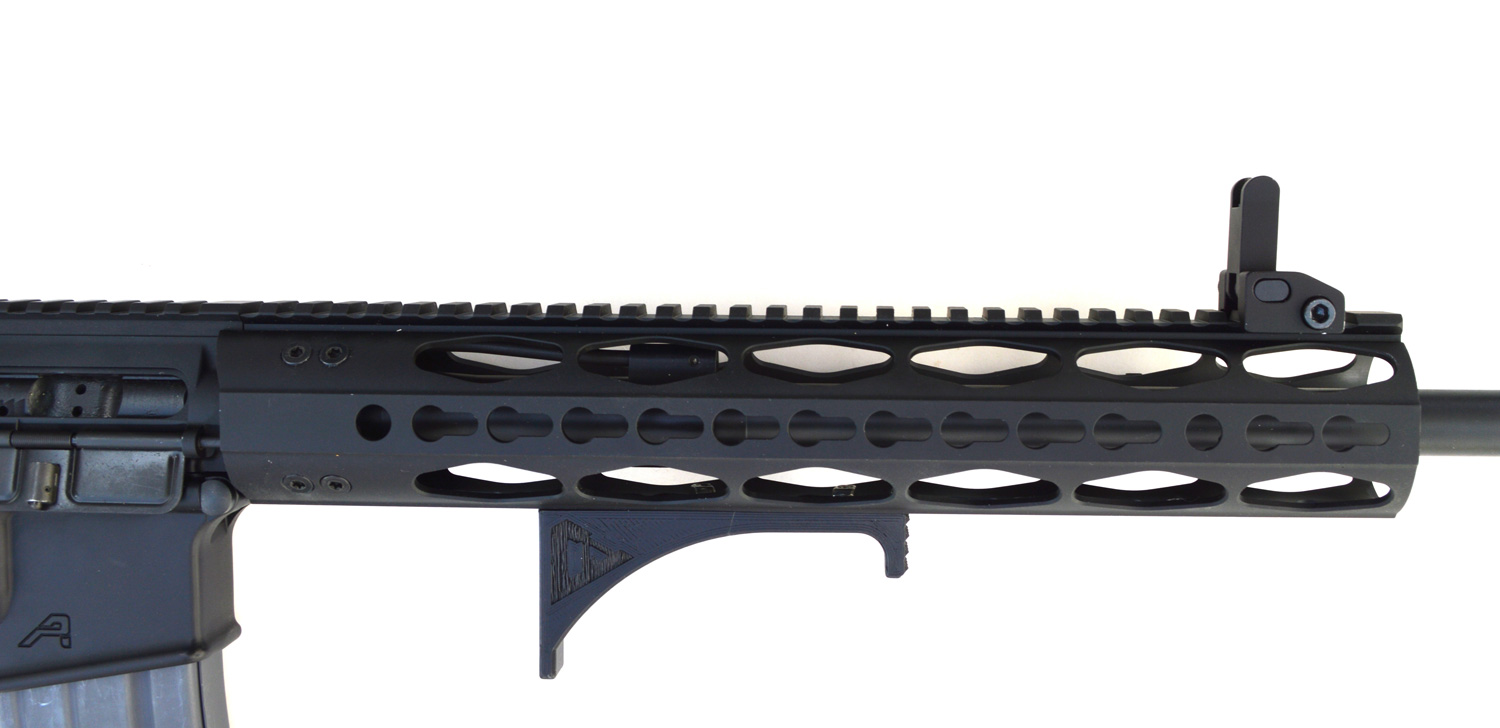 Seekins handguard on AR-15 rifle