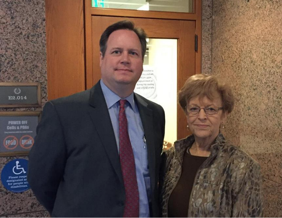 Texas Law Shield Attorney Edwin Walker with TSRA Legislative Director Alice Tripp.