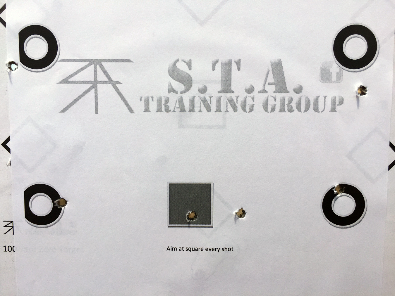 STA Training Group sight-in target