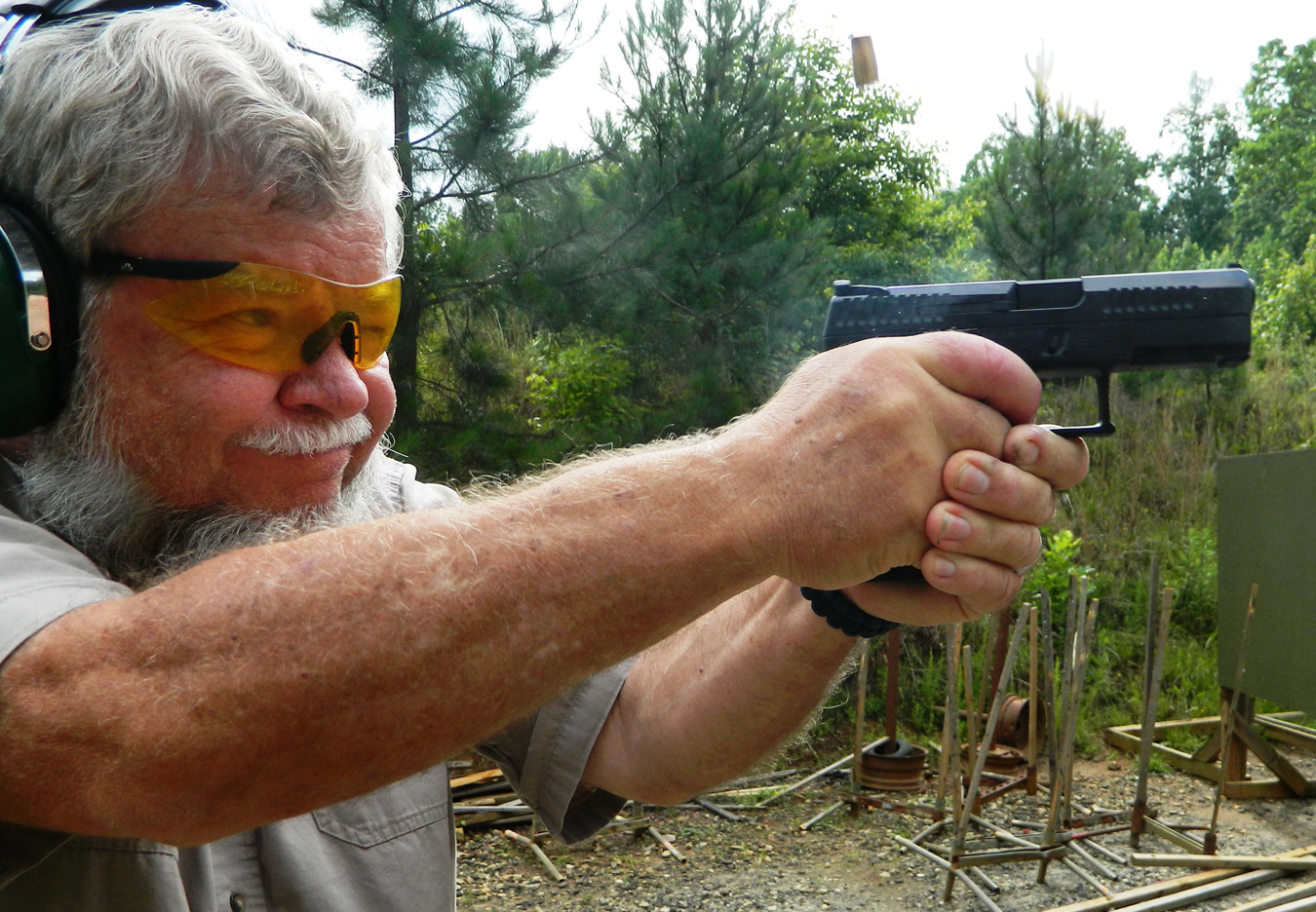 Bob Campbell shooting the CZ P10-C 9mm pistol