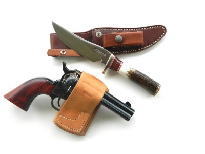 Randall #27 knife and Traditions Sheriff's Model revolver