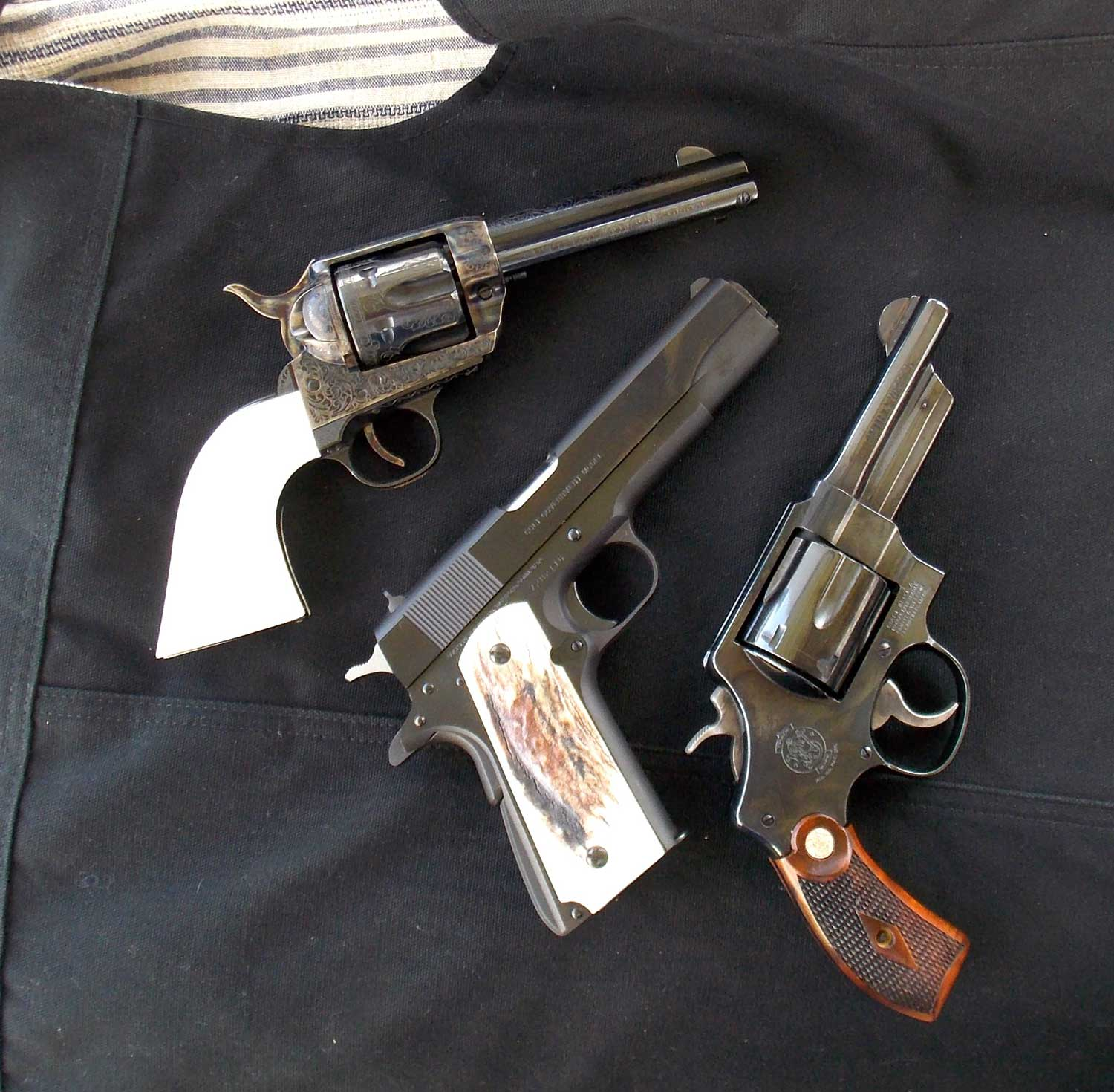 2 revolver and semi-automatic pistol