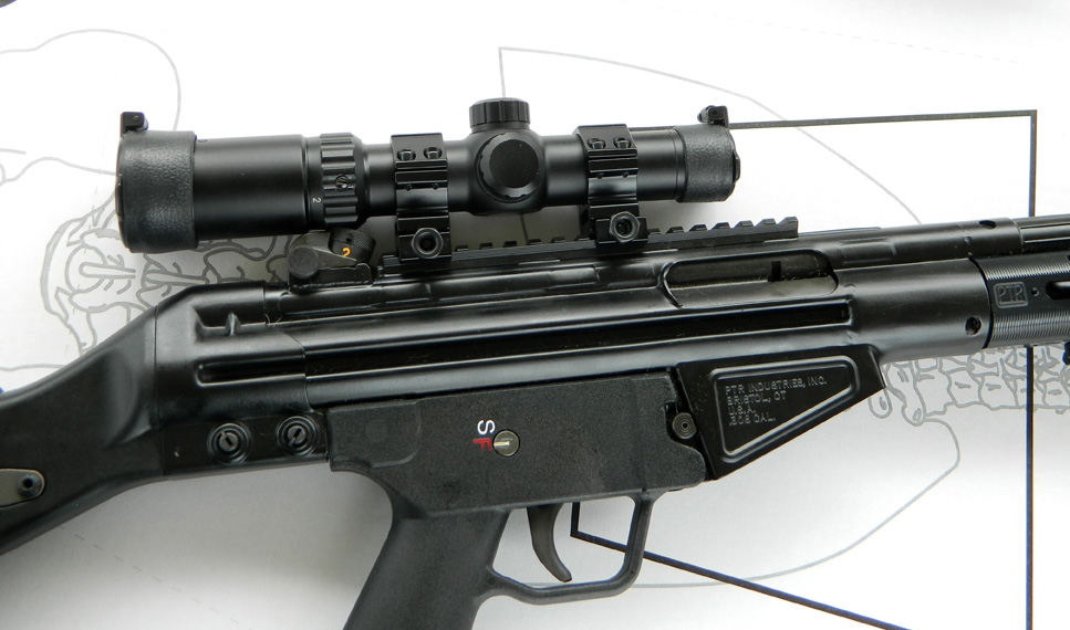 TruGlo scope mounted on a PTR 91