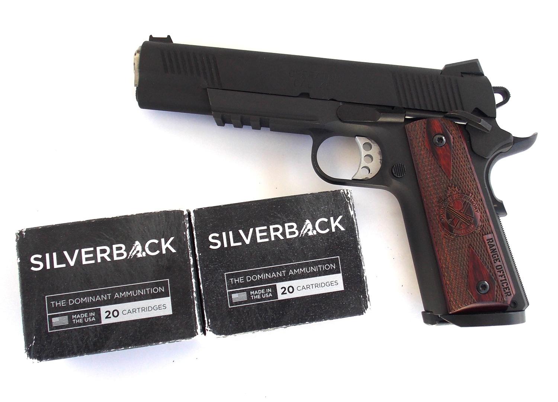 Springfield Operator 1911 pistol and Gorilla Ammunition