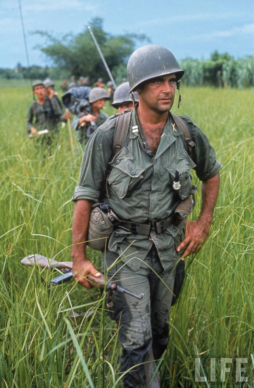 Army advisor in Viet Nam carrying an M1 Carbine