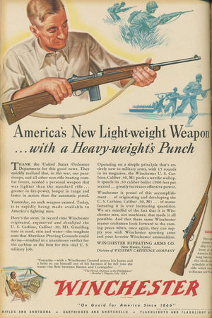 Winchester ad for the M1 Carbine