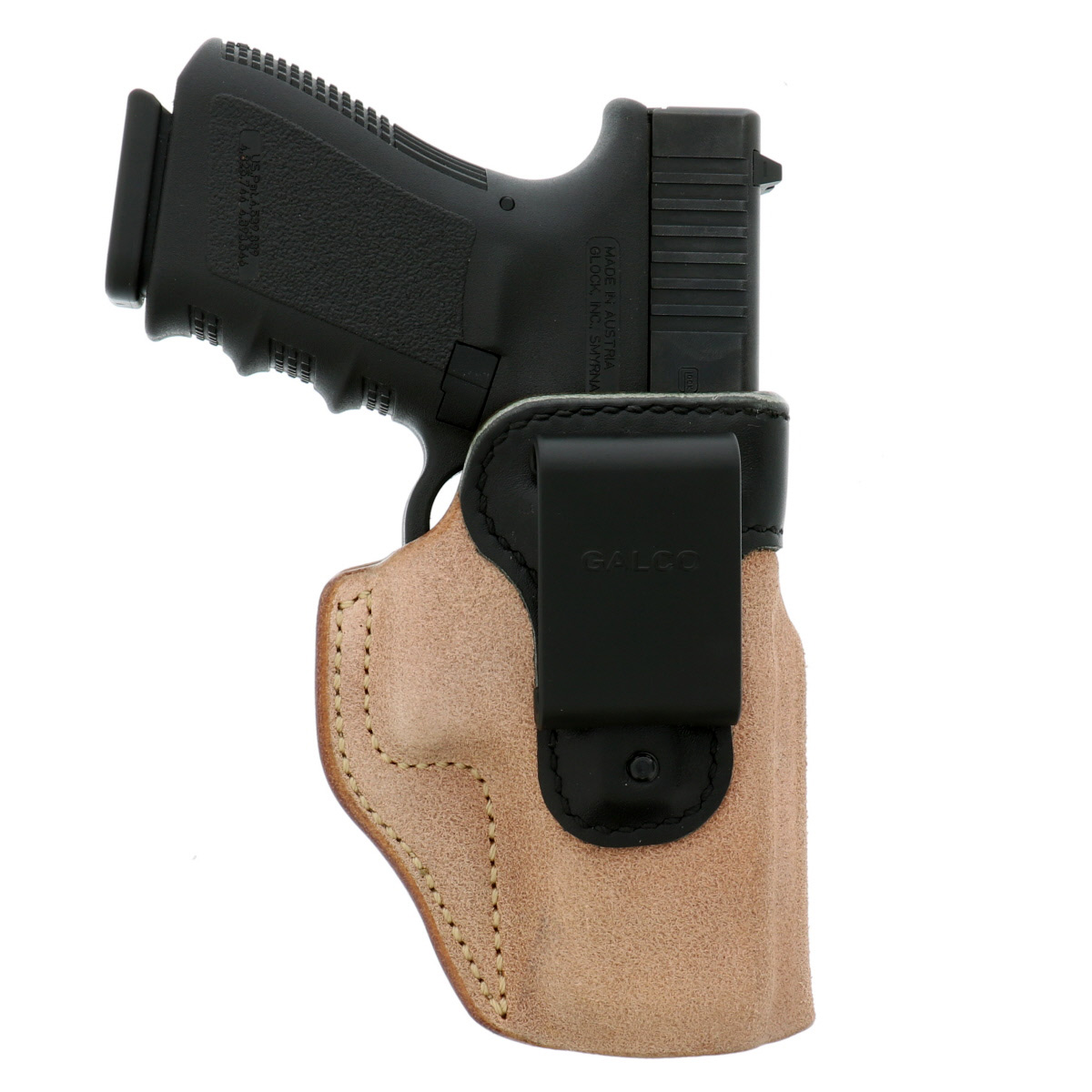 Glock pistol in a Galco Scout holster
