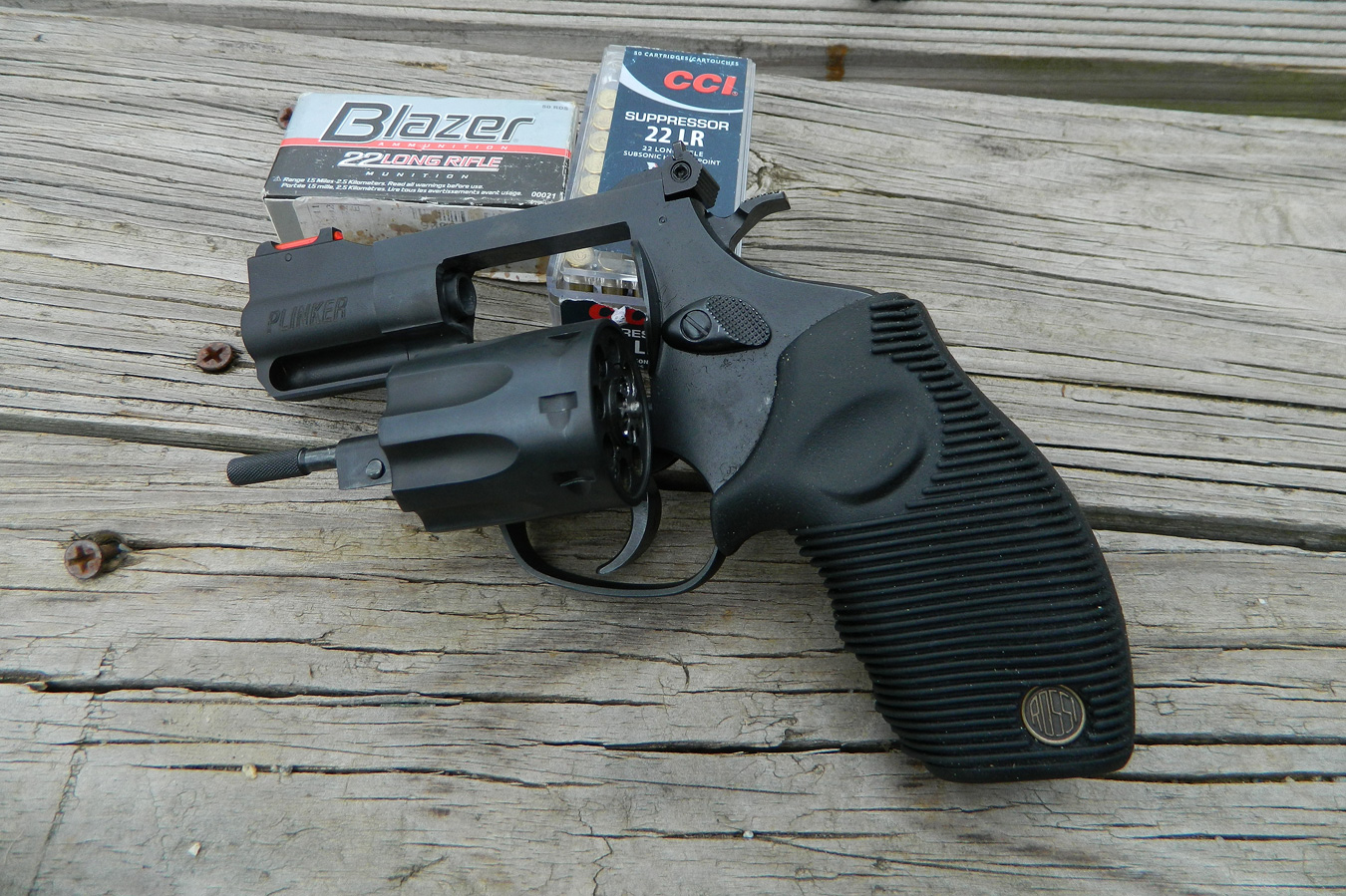 Rossi Plinker revolver with two boxes of ammunition