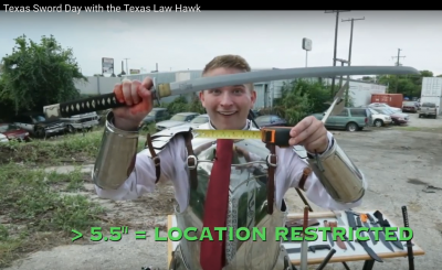 Texas Law Hawk Sword Day video