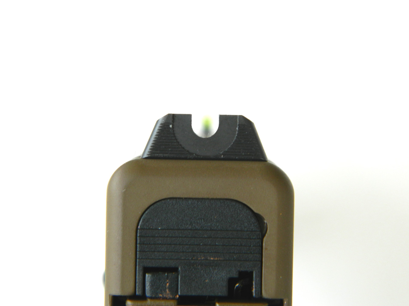 Rear U style sight on Vicker's GLock