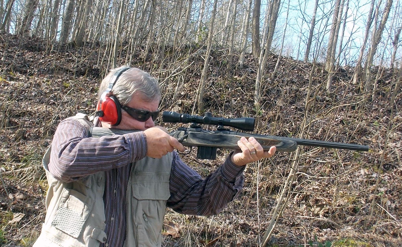 Bob Campbell shooting a Mossberg MVP rifle