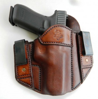 Sideguard inside the waistband leather holster