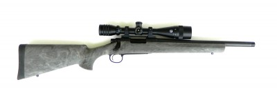 Remington 700 with Hogue overmold stock right profile