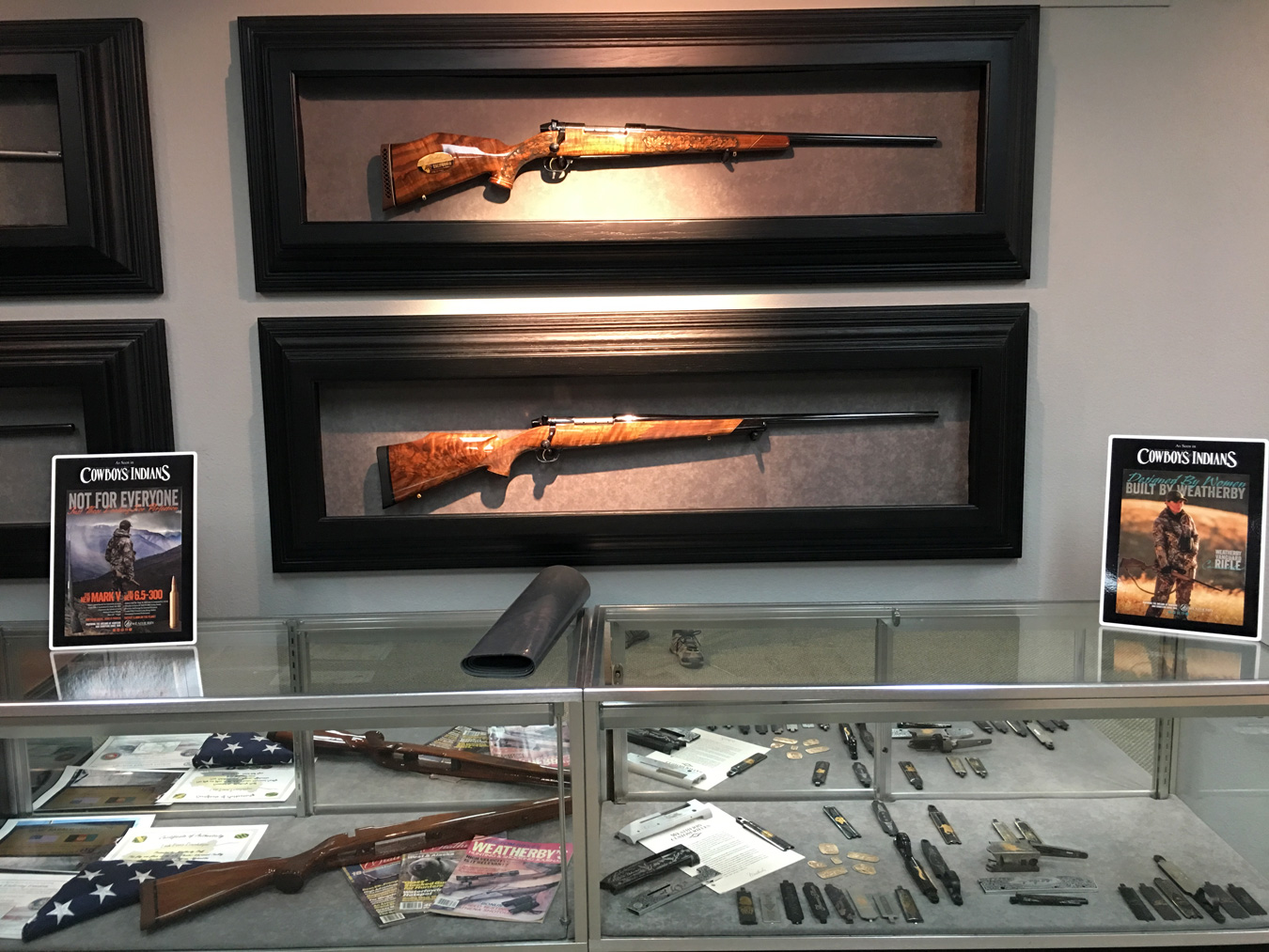 2 Weatherby Mark V rifles