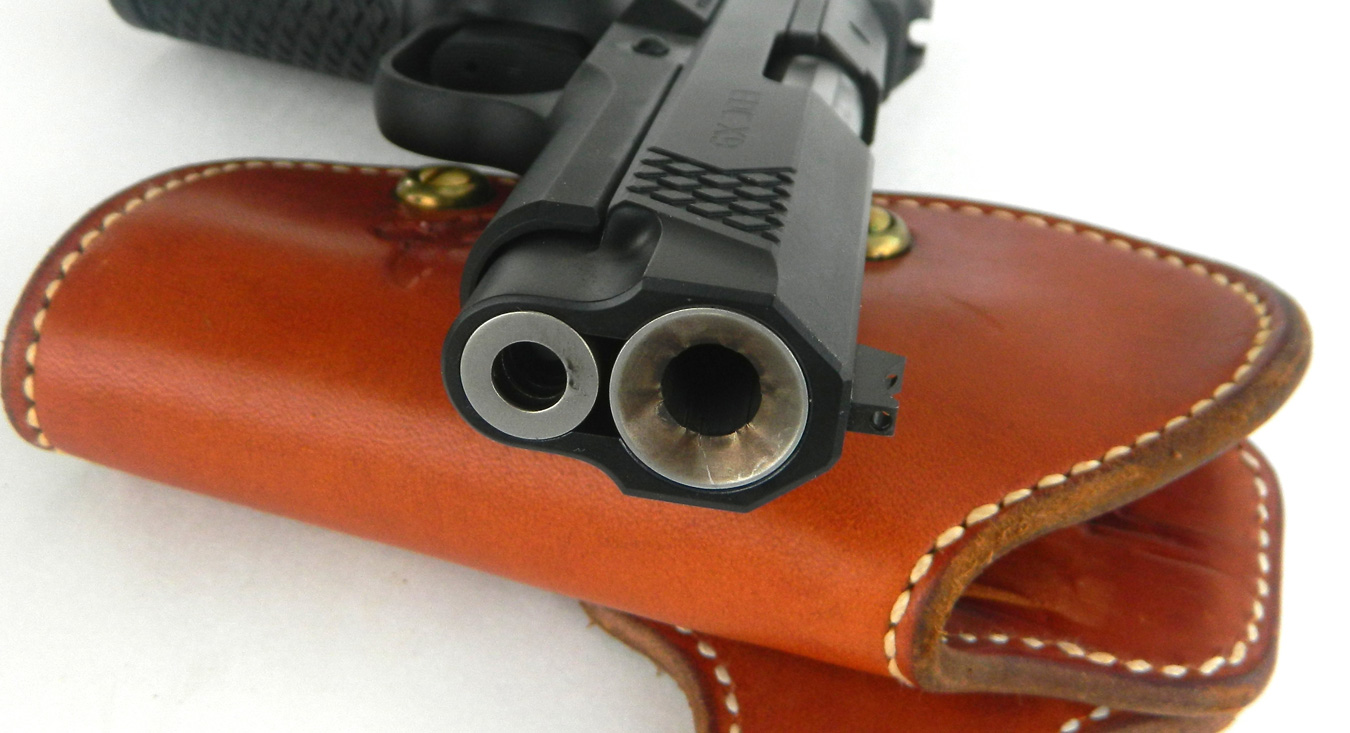 Muzzle crown on a pistol