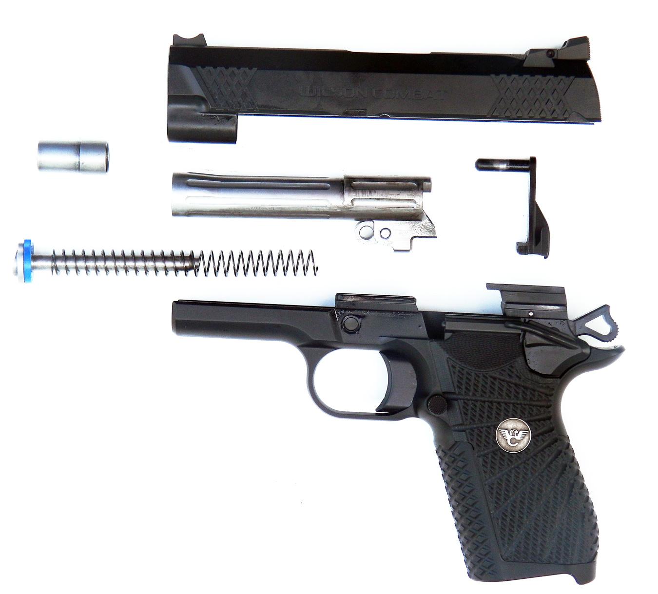 Disassembled Wilson Combat EDC X9 pistol