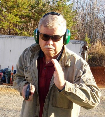 Bob Campbell handling the Kahr .380 pistol