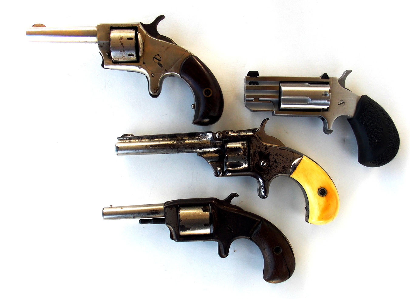 4 .22 caliber revolvers