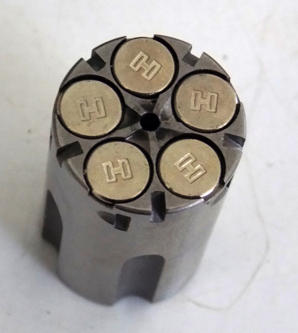 Loaded cylinder from a NAA PUG revolver
