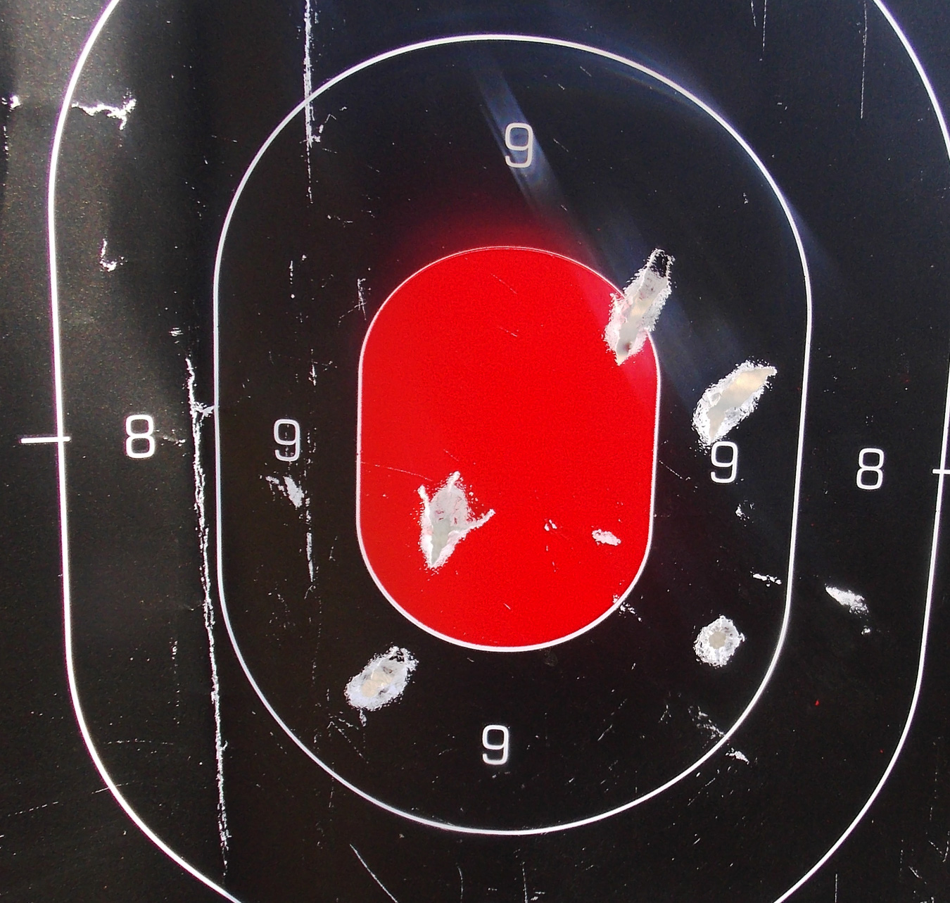 5-shot group on a paper target