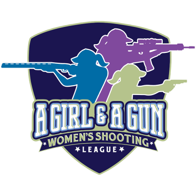 A girl and a gun logo