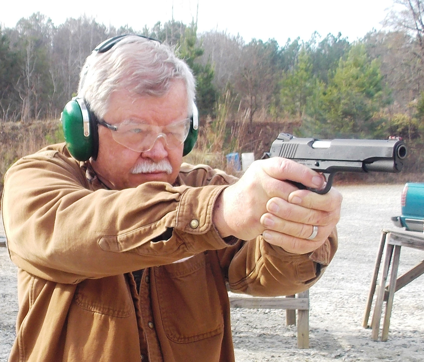 Bob Campbell shooting the Colt Competition 1911 pistol